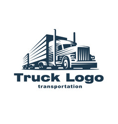 Truck logo on white background vector