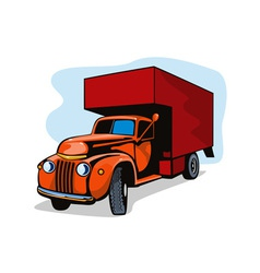 Truck Movers Vintage Retro vector