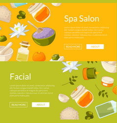 Web banners spa vector