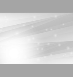 white and gray abstract geometric background vector image