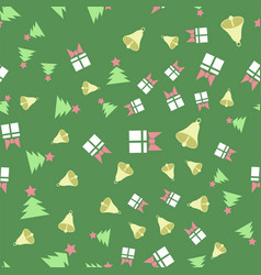 winter christmas seamless pattern vector image