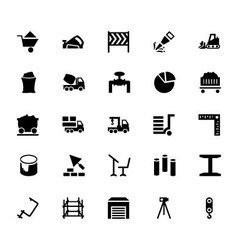 Construction Icons 5 vector image vector image