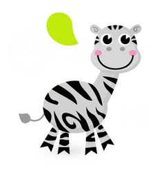 Cute cartoon Zebra vector image vector image