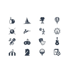 Entertainment icons Lyra series vector image