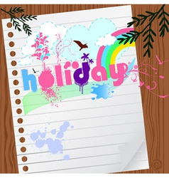 holiday graphic vector image vector image