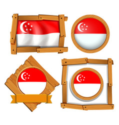 icon design for flag of singapore vector image vector image