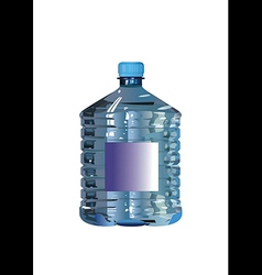 water bottle on a white background vector image vector image
