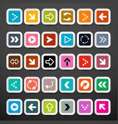 arrows arrow icons set vector image