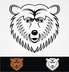 Bear Head Mascot vector image vector image