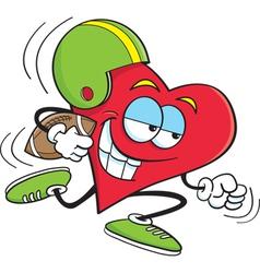 Cartoon Heart Playing Football vector image