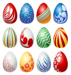 Easter egg set vector image vector image