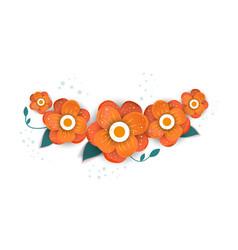 floral bouquet design vector image