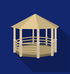 gazebo icon in flat style isolated on white vector image vector image