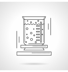Lab beaker flat line design icon vector image