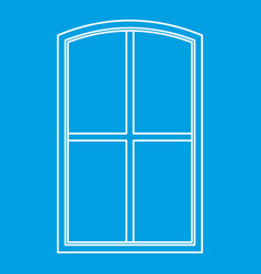 Wooden window icon outline vector
