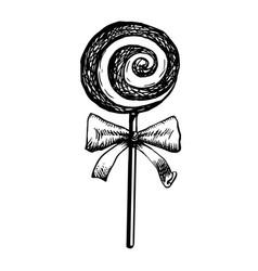candy lollipop sketch doodle vector image