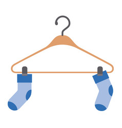 colorful silhouette of pair of socks in clothes vector image