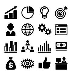 Marketing and ceo icons set vector
