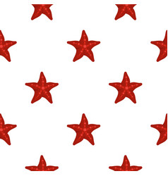 red starfish pattern seamless vector image vector image