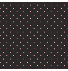 Tile pattern with pink polka dots black background vector