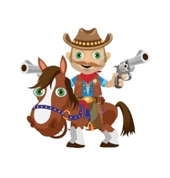 Cowboy rider on a stallion Wild West character vector image vector image