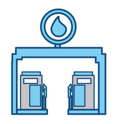 gasoline dispenser station vector image