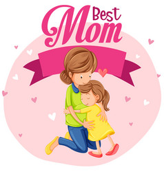 A best mom icon vector