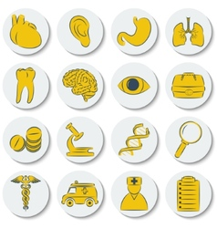 A set of flat round icons on medical subjects vector