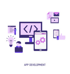 app development and design concept app vector image