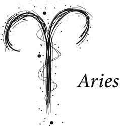 Aries astrology sign hand drawn horoscope vector