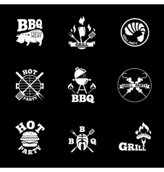 barbeque labels set vector image