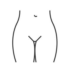 Bikini zone linear icon vector