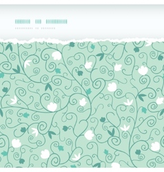 Blossoming Branches Horizontal Torn Seamless vector image