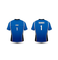 blue and white layout sport t-shirt kits jersey vector image