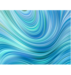 Blue color water abstract smooth wave curve flow vector