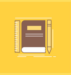 book notebook notepad pocket sketching flat line vector image