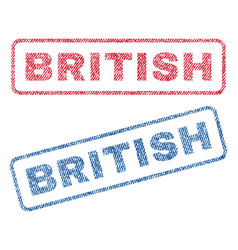 british textile stamps vector image