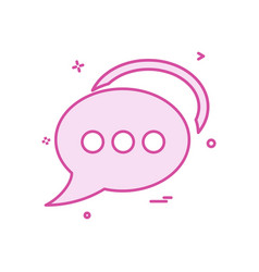 bubble chat talk icon design vector image