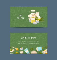 business card template for beauty and spa vector image