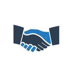 Business handshake icon vector
