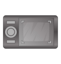 Camera viewfinder with exposure icon cartoon style vector