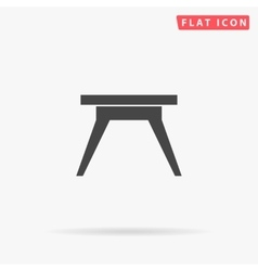 Camping table simple flat icon vector image