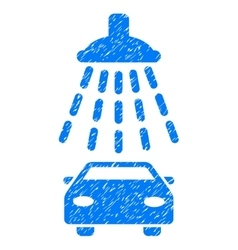 Car Shower Grainy Texture Icon vector image