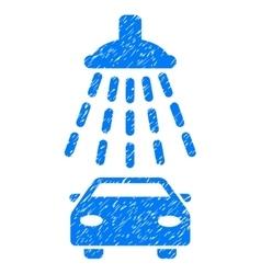 Car shower grainy texture icon vector