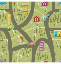 Cartoon map seamless pattern vector image