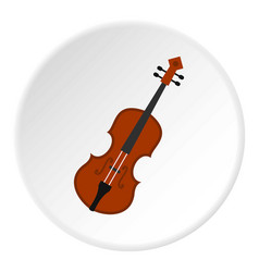 cello icon circle vector image
