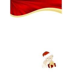 christmas red template vector image