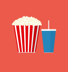 cinema popcorn vector image