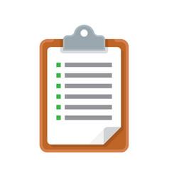 Clipboard with checklist icon vector