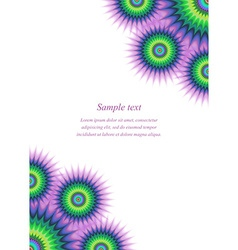 Colorful page ornament cover design template vector image
